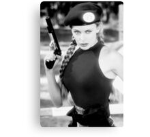 CAMMY STREET FIGHTER KYLIE MINOGUE Canvas Print