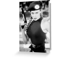 CAMMY STREET FIGHTER KYLIE MINOGUE Greeting Card