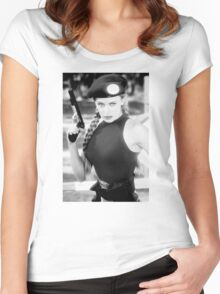 CAMMY STREET FIGHTER KYLIE MINOGUE Women's Fitted Scoop T-Shirt