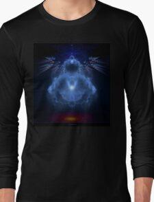 Buddhabrot Fractal Mandelbrot  - Digital Art Long Sleeve T-Shirt