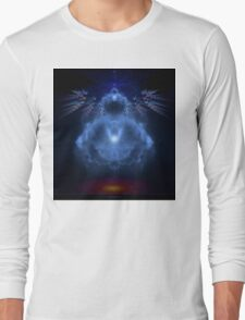 Buddhabrot Fractal Mandelbrot  - Digital Art Long Sleeve T-Shirt