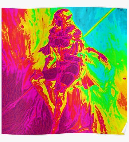 Rainbow Elf Warrior Poster