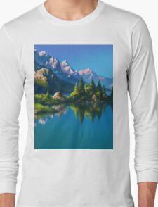 North America Landscape Long Sleeve T-Shirt