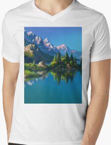 North America Landscape Mens V-Neck T-Shirt