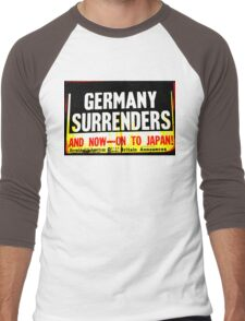 WWII Germany Surrenders Men's Baseball ¾ T-Shirt