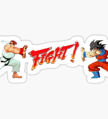 Ryu Vs Goku Sticker