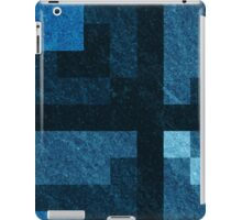 Blue Green Pixel Blocks iPad Case/Skin