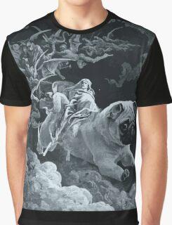 Death Rides a Pale Pug Graphic T-Shirt
