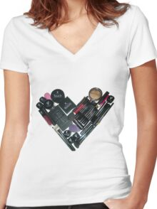 Love Younique Cosmetics! Women's Fitted V-Neck T-Shirt
