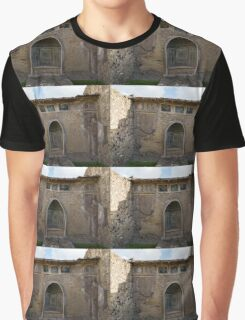 Herculaneum House - Elegant Arched Alcove and Mosaic Wall Art Graphic T-Shirt