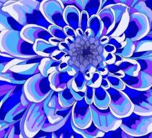 Beautiful unique deep blue chrysanthemum Sticker