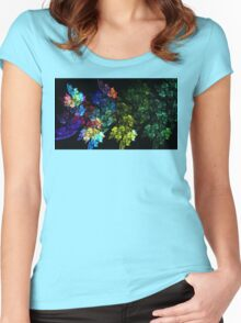 Festive Leaves Women's Fitted Scoop T-Shirt