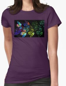 Festive Leaves Womens Fitted T-Shirt