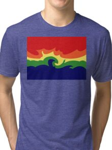 Contrasting Flame Tri-blend T-Shirt
