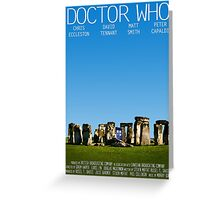 Doctor Who - Movie Poster Greeting Card