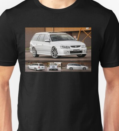 Silver Holden VY Commodore Wagon Unisex T-Shirt