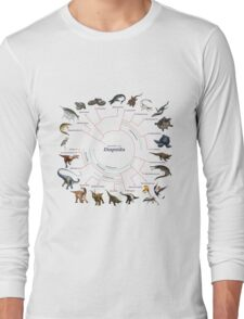 Diapsida: The Cladogram Long Sleeve T-Shirt