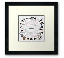 Diapsida: The Cladogram Framed Print