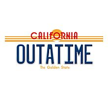 Back to the Future II Licence Plate Outatime Photographic Print