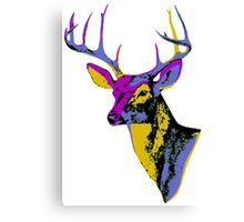The One With The Retro Deer Canvas Print
