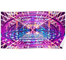 Rave Vision Synesthesia - Psychedelic Geometric Art  Poster