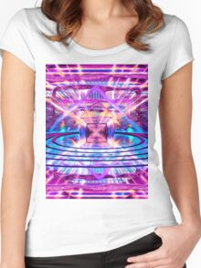 Rave Vision Synesthesia - Psychedelic Geometric Art  Women's Fitted Scoop T-Shirt