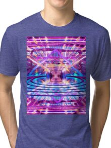 Rave Vision Synesthesia - Psychedelic Geometric Art  Tri-blend T-Shirt