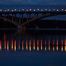 Lake Street Bridge, Minneapolis at night by Craig Higson-Smith