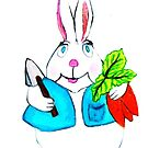 EASTER BUNNY LOVES CARROTS by JoAnnHayden