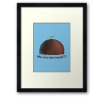 Who Are You People?! - Spongebob Framed Print