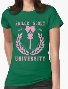Sailor Scout University: Sailor Chibi Moon (Wand) Womens Fitted T-Shirt