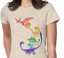 DinoBow Womens Fitted T-Shirt