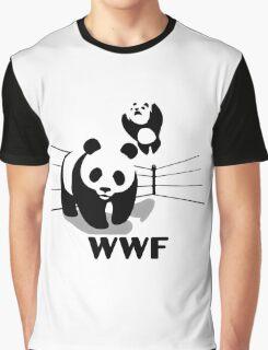 Wrestling Panda Graphic T-Shirt