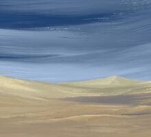 Sweeping desert dune landscape painting  by Leah McNeir