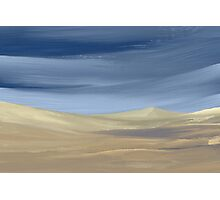 Sweeping desert dune landscape painting  Photographic Print
