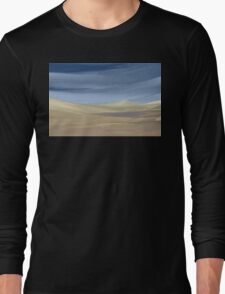 Sweeping desert dune landscape painting  Long Sleeve T-Shirt
