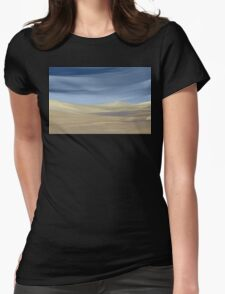 Sweeping desert dune landscape painting  Womens Fitted T-Shirt