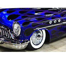 Classic Blue Car Photographic Print