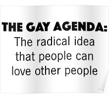 The Gay Agenda Poster