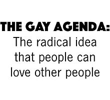 The Gay Agenda Photographic Print