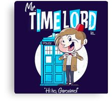 Doctor Who Mr Timelord Canvas Print