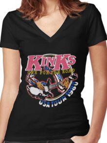 KINKS 2 Women's Fitted V-Neck T-Shirt