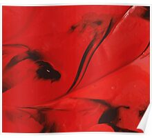 Black and Red Abstract Poster