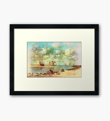 On The Water Front Framed Print