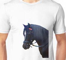 Black Welsh Pony with bridle Unisex T-Shirt