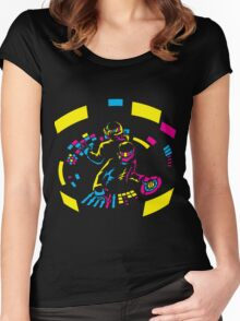 Daft Punk CMYK Women's Fitted Scoop T-Shirt