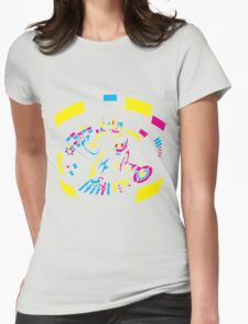 Daft Punk CMYK Womens Fitted T-Shirt