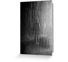 meeting in the rain Greeting Card