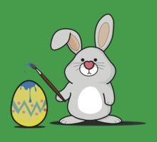 Easter Bunny Art One Piece - Short Sleeve
