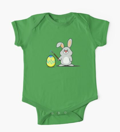 Easter Bunny Art One Piece - Short Sleeve